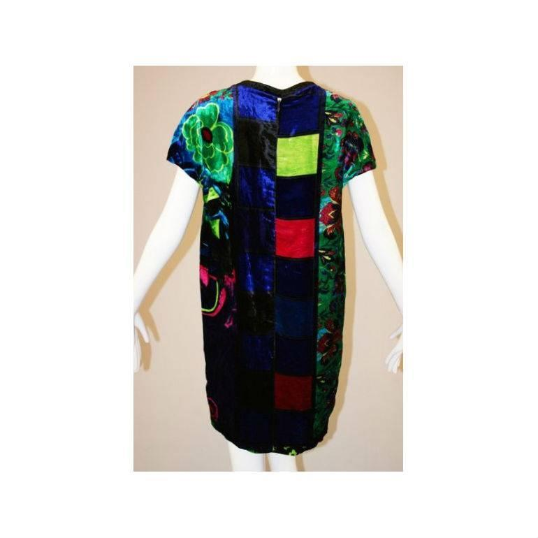 S s 1991 gianni versace couture pop art mod velvet mini for What s a couture pop