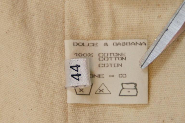 S/S 1994 Dolce & Gabbana Runway Ivory Grunge Ballerina Tulle Gown Dress 5