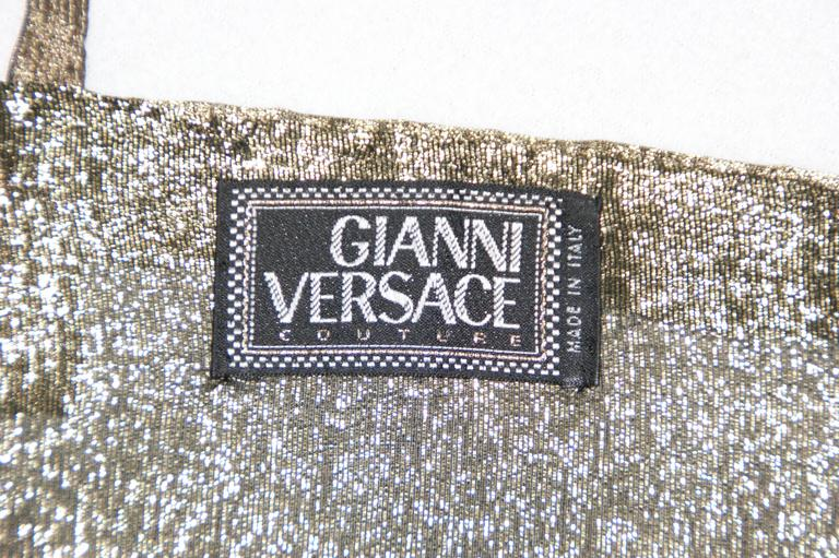 NWT Iconic S/S 1992 Gianni Versace Couture Crystal Bra Crop Top 3