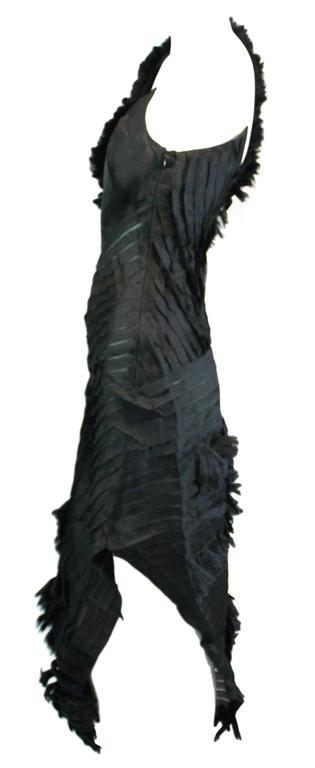 Alexander McQueen S/S 2001 'Voss' Runway Asymmetrical Gown Dress For Sale 1