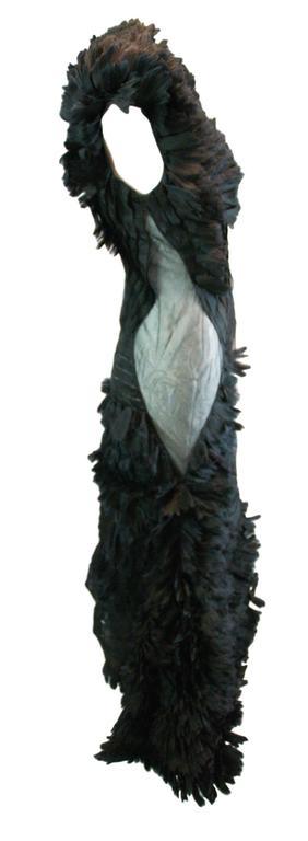 Black Alexander McQueen S/S 2001 'Voss' Runway Asymmetrical Gown Dress For Sale