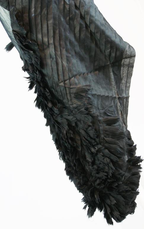 Alexander McQueen S/S 2001 'Voss' Runway Asymmetrical Gown Dress For Sale 2