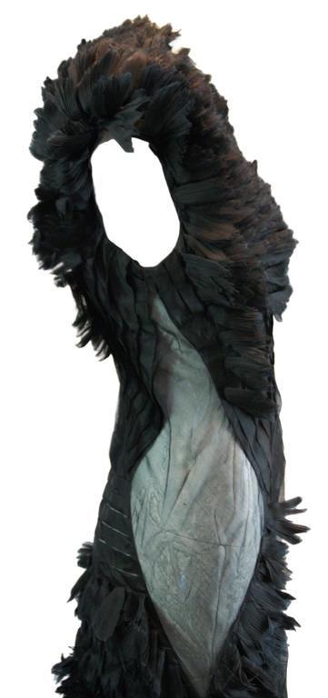 Alexander McQueen S/S 2001 'Voss' Runway Asymmetrical Gown Dress In Excellent Condition For Sale In Yukon, OK