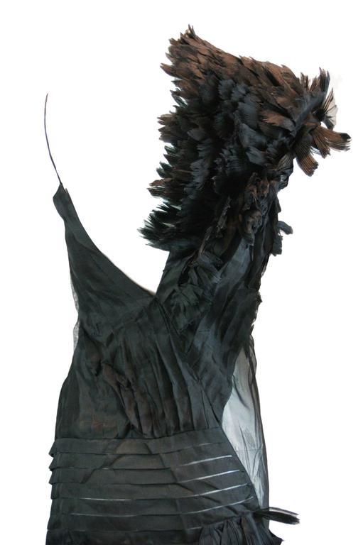 Alexander McQueen S/S 2001 'Voss' Runway Asymmetrical Gown Dress For Sale 4
