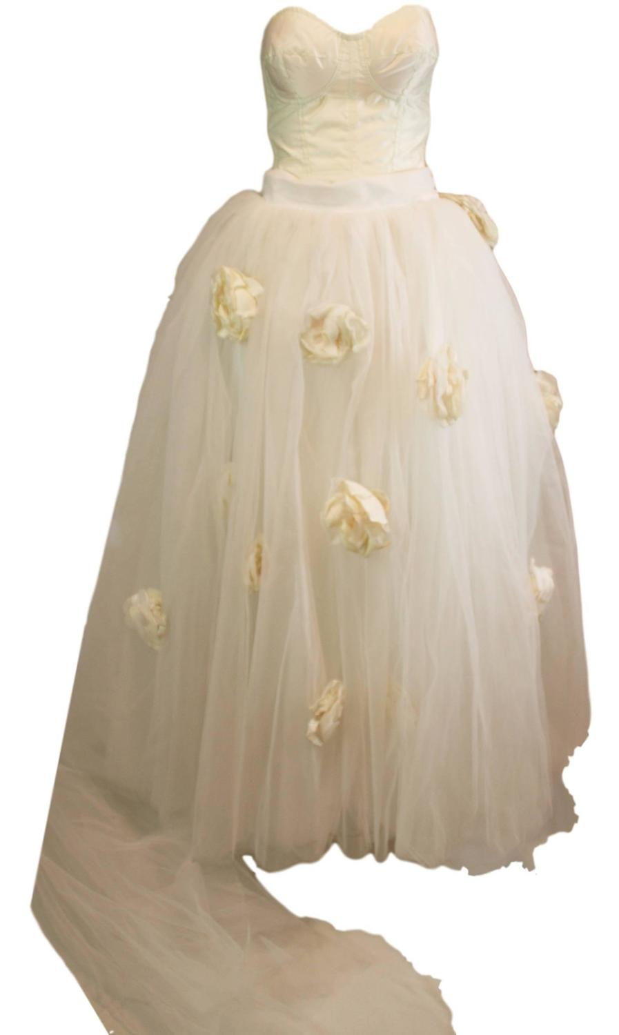 S s 1992 dolce and gabbana bridal wedding gown bustier for Dolce gabbana wedding dress