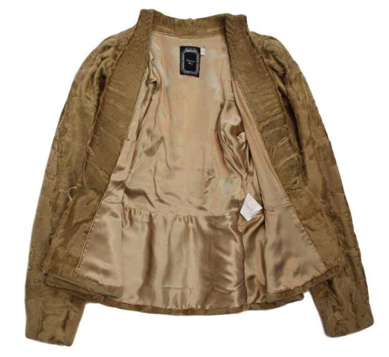 Unworn A/W 2007 Runway Christian Dior by John Galliano Crystal Fur Jacket  For Sale 2