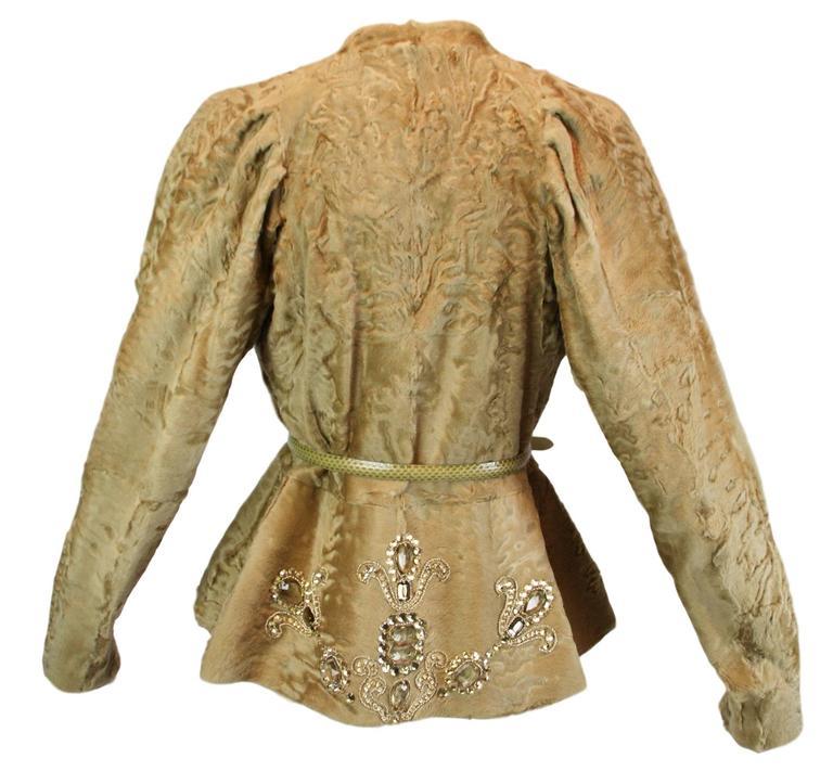 Women's Unworn A/W 2007 Runway Christian Dior by John Galliano Crystal Fur Jacket  For Sale