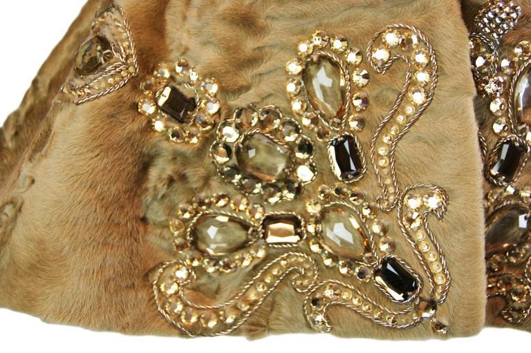 Unworn A/W 2007 Runway Christian Dior by John Galliano Crystal Fur Jacket  In New Condition For Sale In Yukon, OK