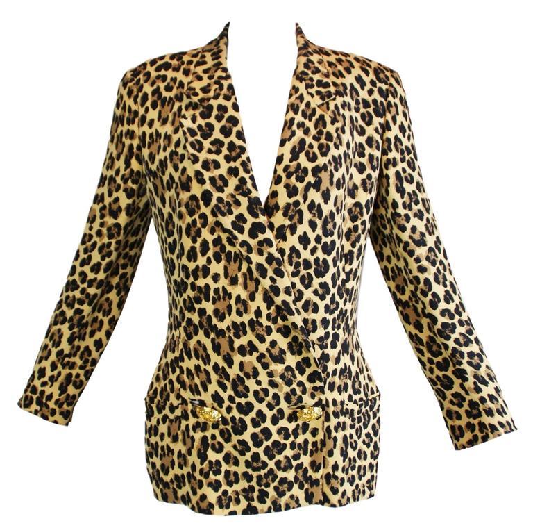 Gianni Versace Couture Corset Leopard Silk Jacket, S/S 1992