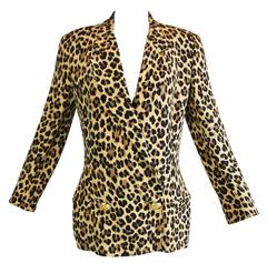 S/S 1992 Gianni Versace Couture Corset Leopard Silk Jacket