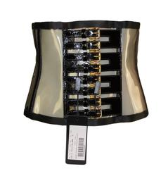 NIB S/S 2007 Dolce & Gabbana Runway Corset Buckle Clear PVC Plastic Belt
