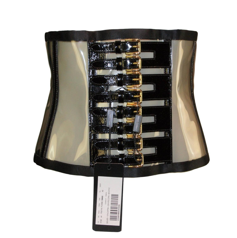 49f0b116ed8 NIB S S 2007 Dolce and Gabbana Runway Corset Buckle Clear PVC Plastic Belt  at 1stdibs