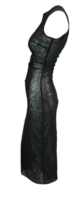 S/S 1998 NWT Dolce & Gabbana Runway Sheer Black Mesh Crystal Madonna Long Dress 3