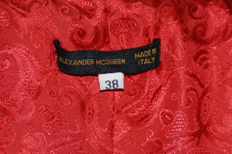 S/S 2000 Runway Alexander McQueen Red & Black Leather Vest Jacket 38 6