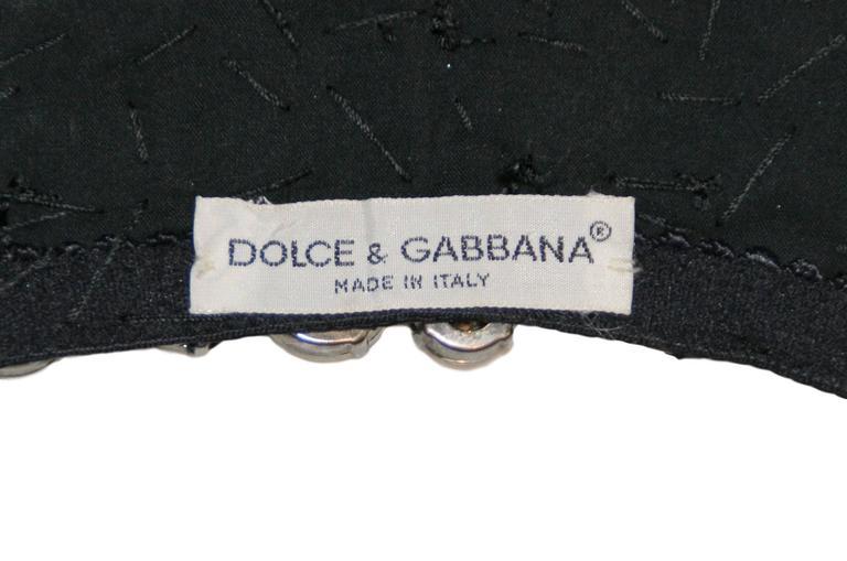 F/W 1991 Dolce & Gabbana Crystal Bustier Bra Halter Crop Top XS For Sale 5
