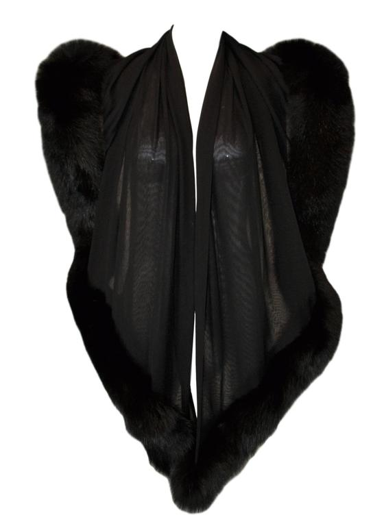 DESIGNER: 1998 Atelier Versace  Please contact for more information and/or photos.  CONDITION: Excellent  MATERIAL: Silk & Fur- unsure of type of fur- possibly fox.   COUNTRY MADE: Italy  SIZE: 77