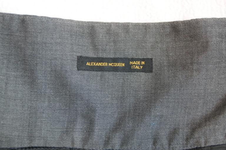 S/S 2001 Voss Alexander McQueen Japanese Embroidered Bustier Crop Top 4