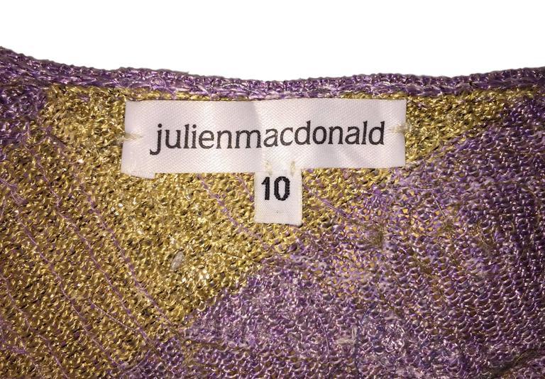 S/S 2001 Julien MacDonald Runway Sheer Mesh Beaded Sequin Gown Dress For Sale 3