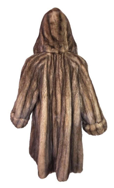 Gianfranco Ferre Natural Russian Golden Sable Swing Fur