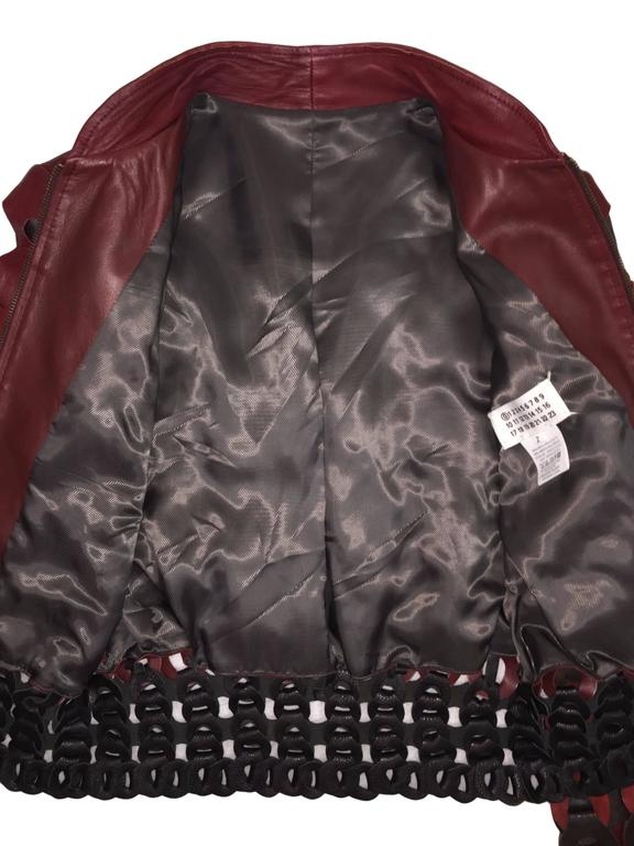 F/W 2007 Maison Martin Margiela Artisanal Woven Leather Bomber Jacket 2 In Excellent Condition For Sale In Yukon, OK