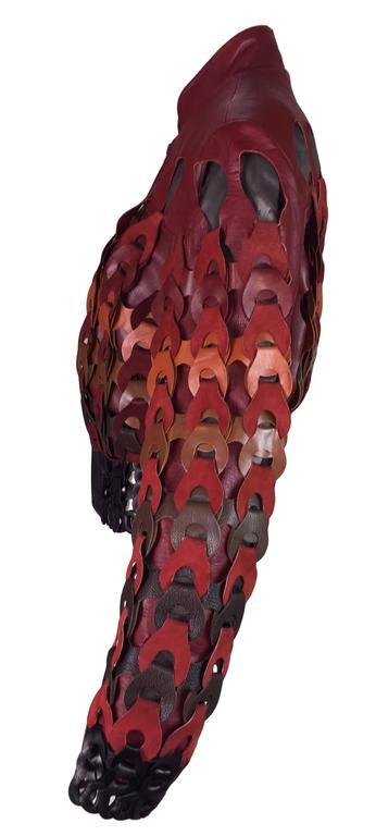 F/W 2007 Maison Martin Margiela Artisanal Woven Leather Bomber Jacket 2 2