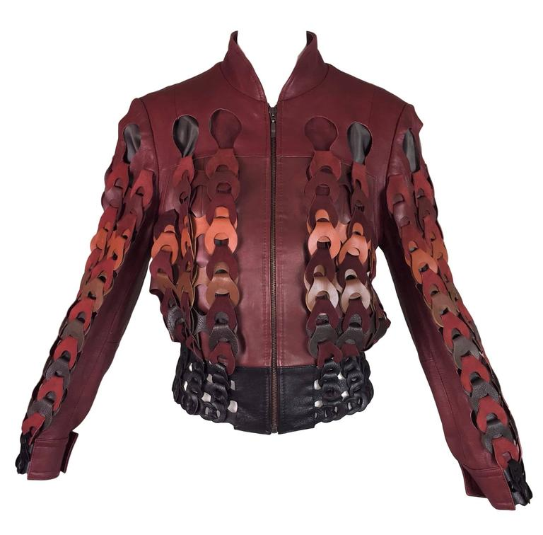 F/W 2007 Maison Martin Margiela Artisanal Woven Leather Bomber Jacket 2 For Sale