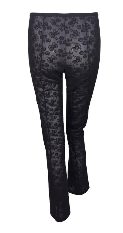 S/S 1998 Dolce & Gabbana Sheer Black Lace Corset Bandage Leggings  In Excellent Condition For Sale In Yukon, OK