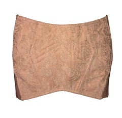 S/S 2004 Jean Paul Gaultier Runway Nude Corset Micro Mini Bandage Skirt