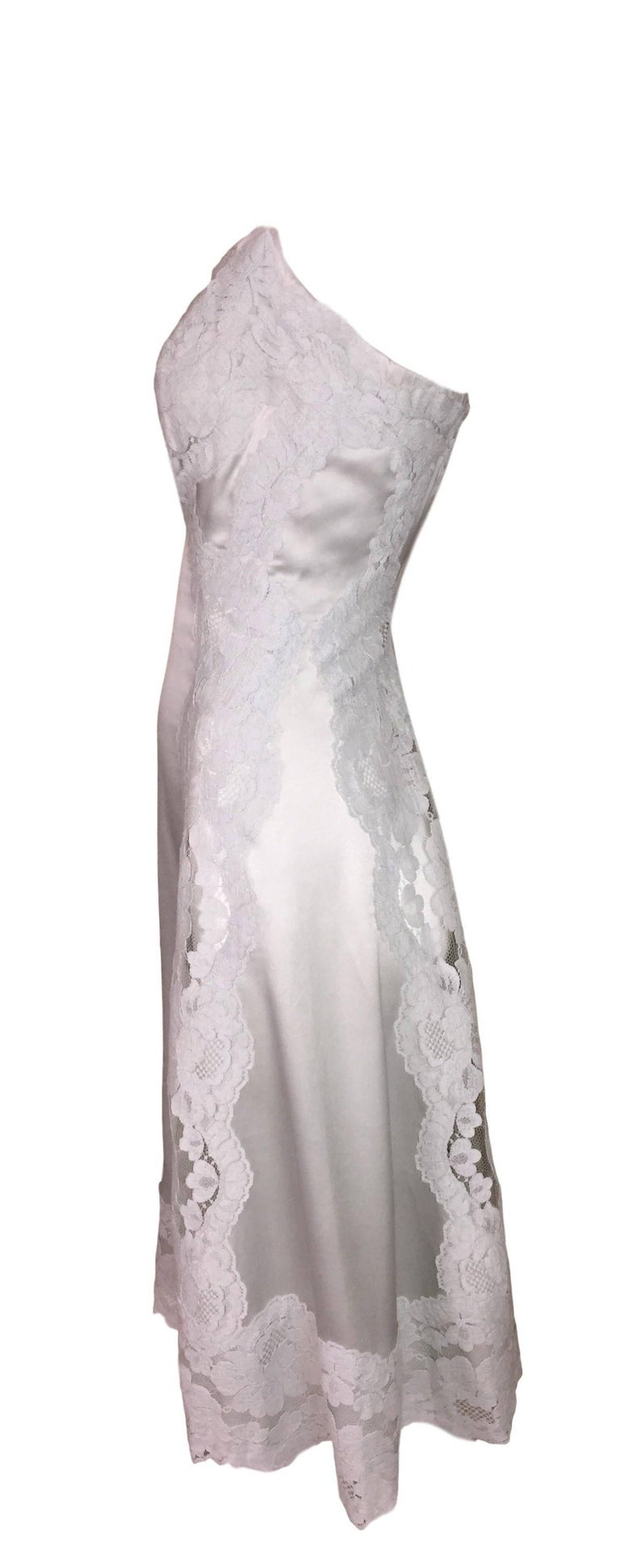 F/W 2015 Dolce & Gabbana Haute Couture Alta Moda OOAK Sheer Lace Slip Dress 2