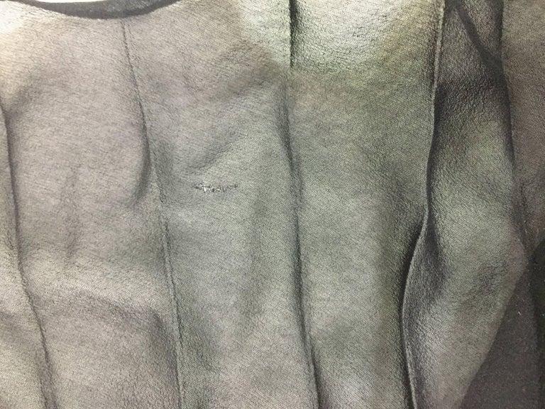Dolce & Gabbana Sheer Black High Waist Pin-Up Mesh Long Pleated Pants, 1993  For Sale 2