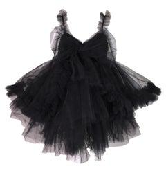 Dolce & Gabbana Runway Black Tulle Ballerina Mini Dress, S / S 1992