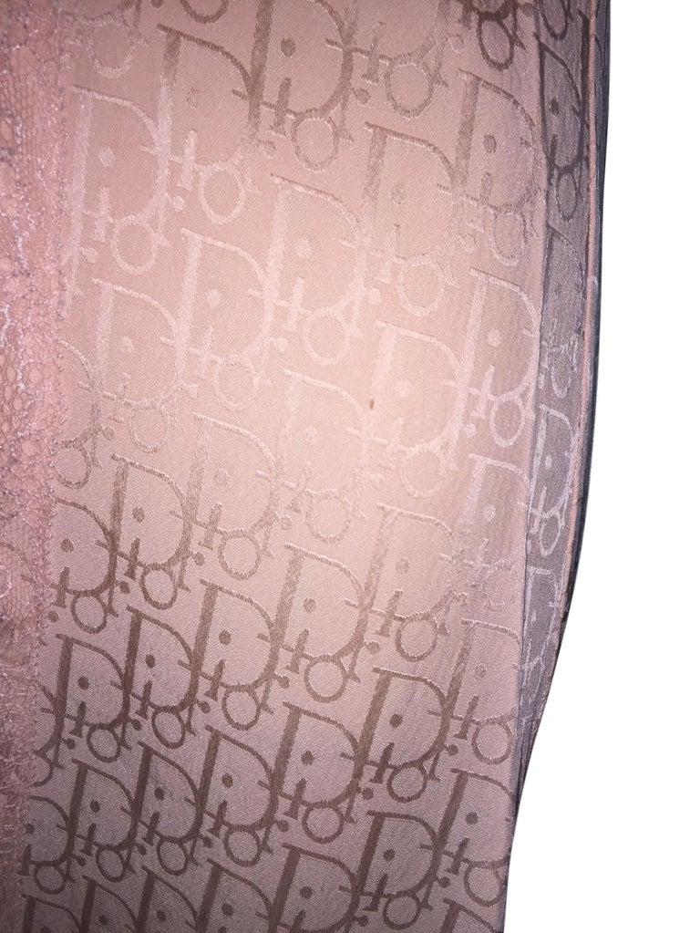 S/S 2000 Christian Dior John Galliano Baby Pink Monogram Logo Slip Dress In Good Condition For Sale In Yukon, OK
