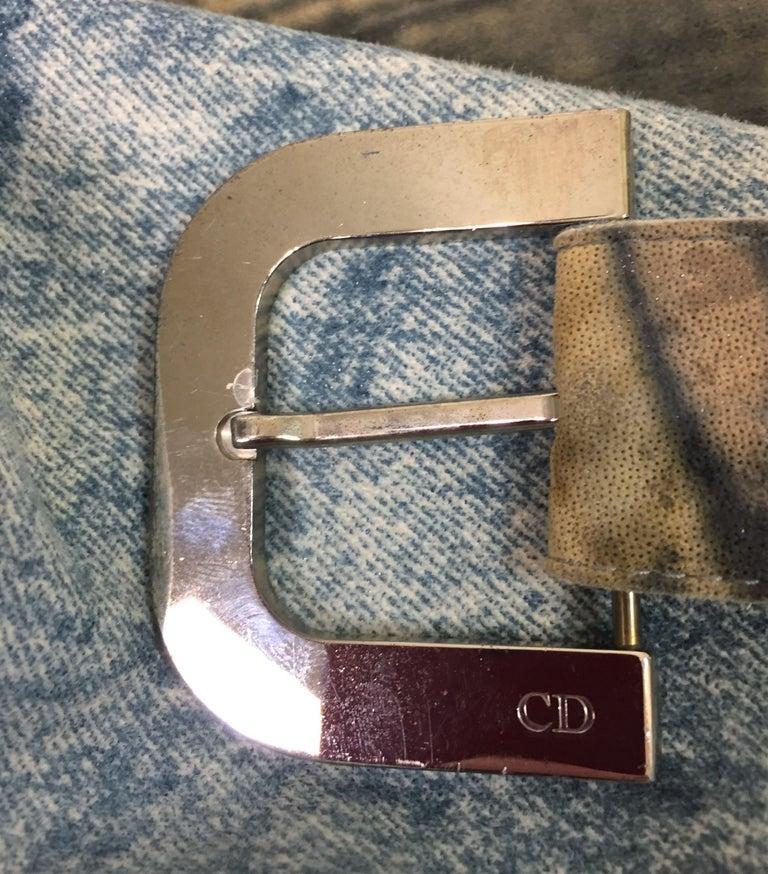 F/W 2001 Christian Dior John Galliano Diorella Print Velvet Suede Coat Jacket For Sale 5