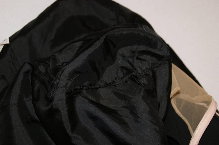 Women's S/S 1998 Alexander McQueen Savage Beauty Met Museum Mesh Tuxedo Mini Dress 40 For Sale