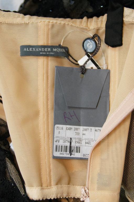 New Alexander McQueen Sarabande S/S 2007 Museum Beaded Tulle Gown Dress 38 9