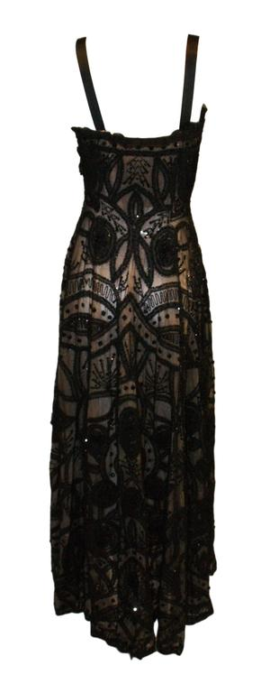 Alexander McQueen Sarabande Museum Beaded Tulle Gown Dress 38, S/S 2007  For Sale 1
