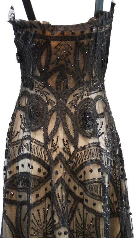 Alexander McQueen Sarabande Museum Beaded Tulle Gown Dress 38, S/S 2007  For Sale 2