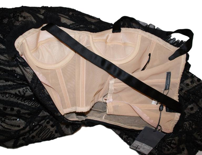 New Alexander McQueen Sarabande S/S 2007 Museum Beaded Tulle Gown Dress 38 8