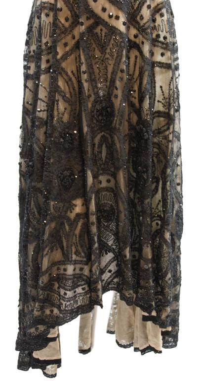 Women's Alexander McQueen Sarabande Museum Beaded Tulle Gown Dress 38, S/S 2007  For Sale