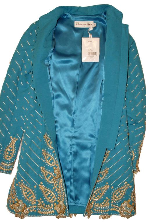 NWT John Galliano For Christian Dior Cruise 2008 Runway Beaded Indian Jacket 38 7