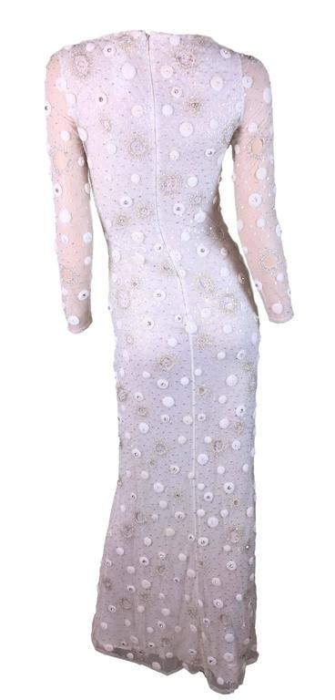 S/S 1995 Atelier Versace Gianni Ivory Silk Embellished Wedding Bridal Gown Dress 2