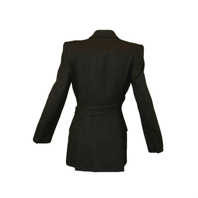 """Women's Alexander McQueen """"What a Merry Go Round"""" Black Wool Wrap Jacket Coat, A/W 2001  For Sale"""