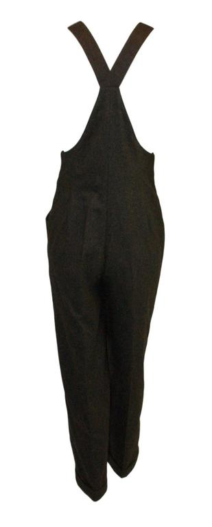 S/S 1994 Gianni Versace Gray Wool & Cashmere Overalls Jumpsuit  4