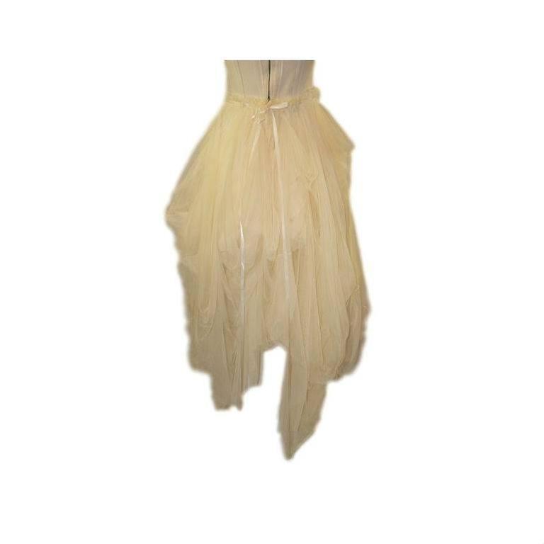 S/S 1994 Dolce & Gabbana Runway Ivory Grunge Ballerina Tulle Gown Dress 3