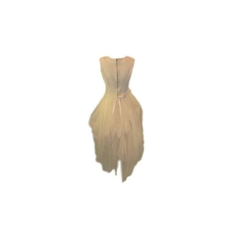 S/S 1994 Dolce & Gabbana Runway Ivory Grunge Ballerina Tulle Gown Dress 2