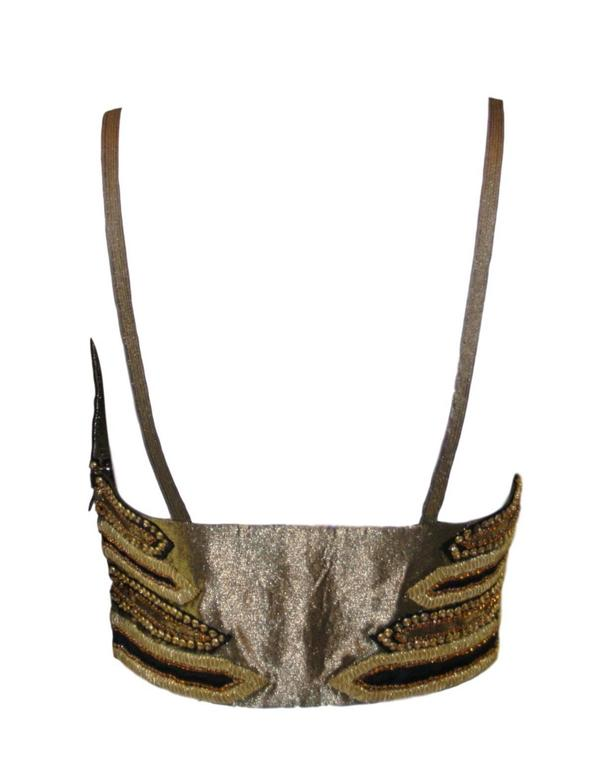 NWT Iconic S/S 1992 Gianni Versace Couture Crystal Bra Crop Top 2