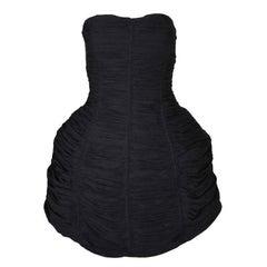 S/S 2015 Jean Paul Gaultier Runway Black Strapless Hoop Skirt Mini Dress