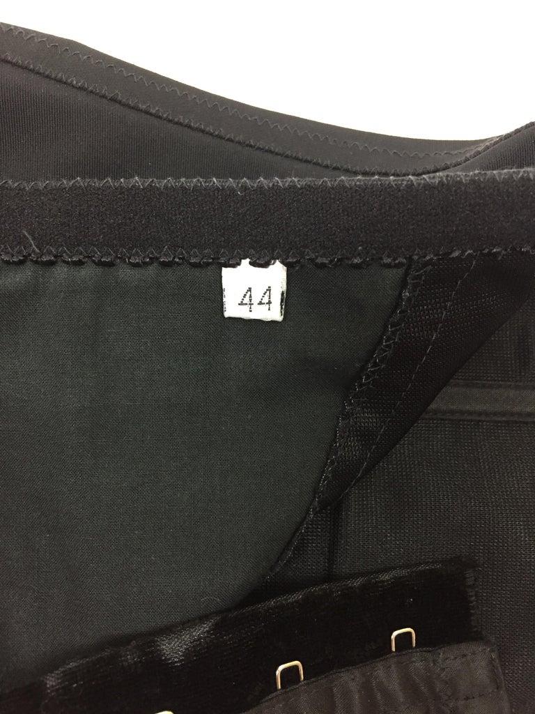 Women's 1992 Dolce & Gabbana Black Satin Corset Crop Top & High Waist Wiggle Skirt For Sale
