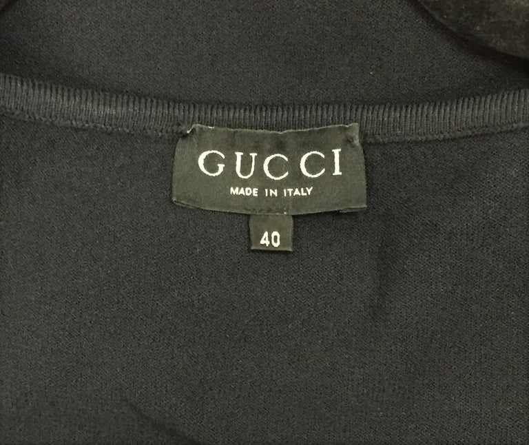 Women's S/S 1998 Gucci by Tom Ford Strappy L/S Black Knit Bodycon Wiggle Dress 40 For Sale