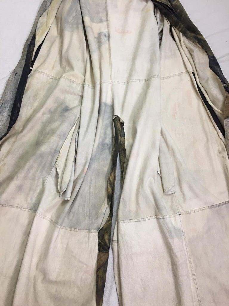 F/W 2001 Christian Dior John Galliano Diorella Print Velvet Suede Coat Jacket For Sale 6